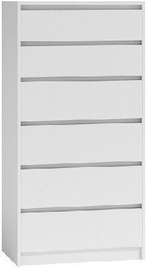 Top E Shop Karo K6 Chest of 6 Drawers White