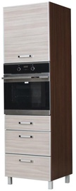 Bodzio Ola High Rise Oven Cabinet 60 Gloss Right Latte