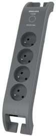 Philips Surge Protector 4 Outlets 2m Grey