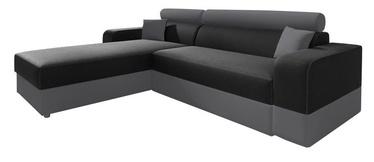 Угловой диван Idzczak Meble Infinity Lux Black/Grey, левый, 184 x 184 x 95 см