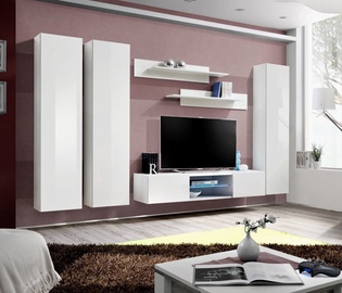 ASM Fly P1 Living Room Wall Unit Set White