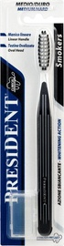 President White Smoker Toothbrush Medium-Hard