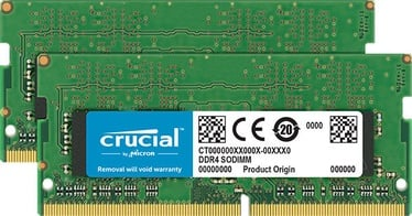 Crucial 32GB 2666MHz CL19 DDR4 SODIMM KIT OF 2 CT2K16G4SFD8266
