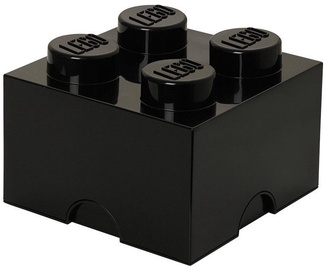 Lego Storage Brick 4 Knobs Medium Black