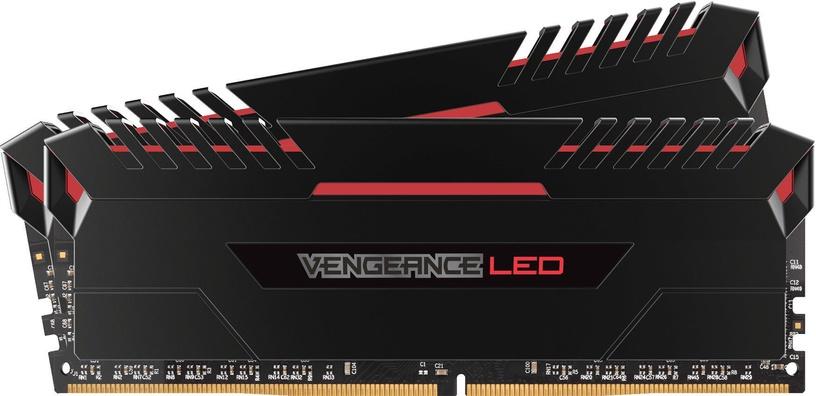 Corsair Vengeance LED Red 16GB 3000MHz CL16 DDR4 KIT OF 2 CMU16GX4M2C3000C16R