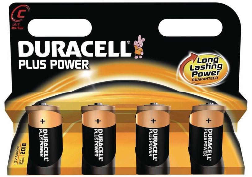 Duracell Plus Power C Alkaline Battery 4pcs