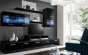 Cama Meble Wall Unit Logo II Without Lights Black