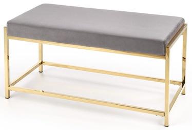 Tumba Halmar Mokka Grey/Gold, 97x44x46 cm