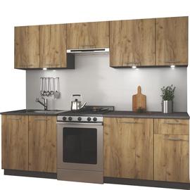 Кухонный гарнитур Halmar Daria Oak/Antracite, 2.4 м