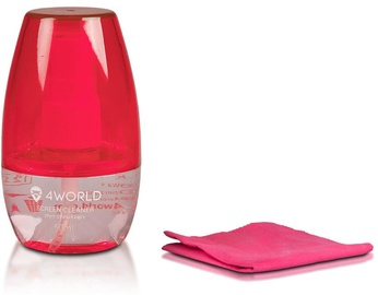 4World Cleaning Kit 50ml+Cloth Pink