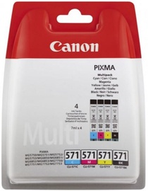 Canon CLI-571 Cartridge Multipack Black Cyan Magenta Yellow