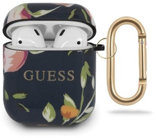 Guess Protection Case For Apple AirPods Black/White Flowers