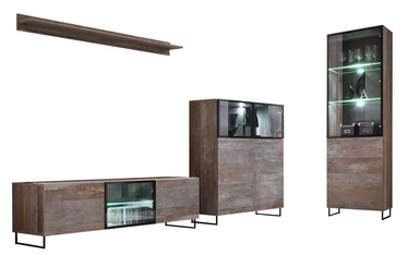 ASM Plank Living Room Wall Unit Set Canyon Wood
