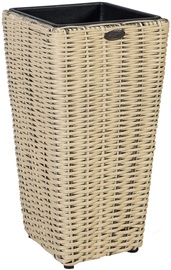 Home4you Flower Pot Wicker 28x28xH60cm Beige 35111