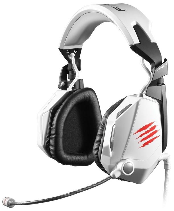 Mänguri kõrvaklapid Mad Catz Cyborg F.R.E.Q. 5 White