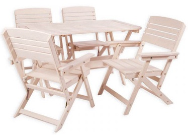 Folkland Timber Folding Garden Set Heini 4 White