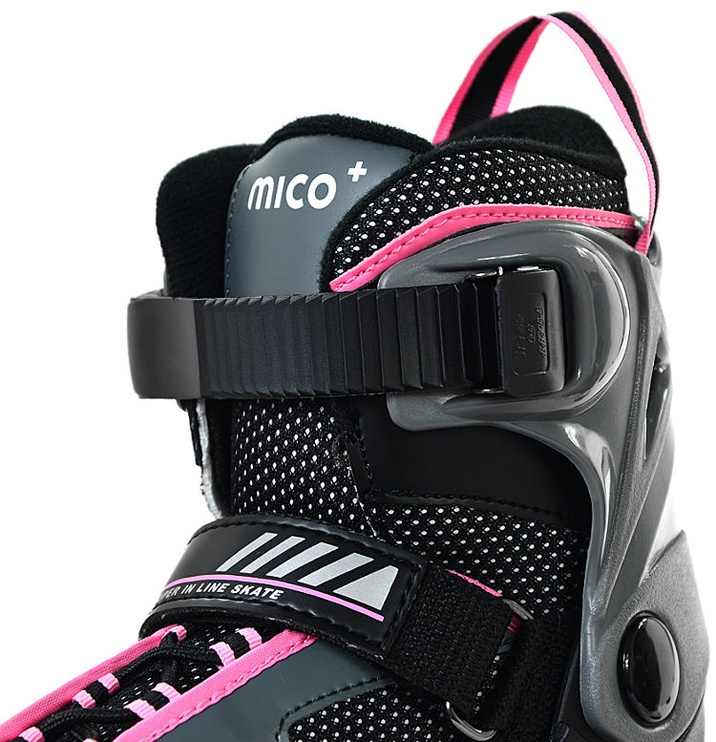 Rulluisud Mico Plus Flash Girl Black/Pink, 40-43