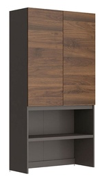 Black Red White Moden Extension Grey/Columbia Walnut