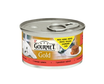 Purina Gourmet Gold Savoury Cake with Beef and Tomatoes 85g