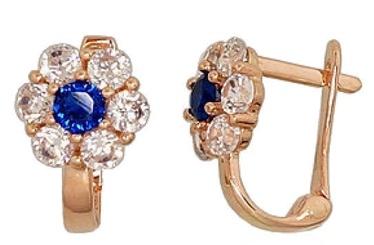 Diamond Sky Gold Earrings Gold Flower XVII