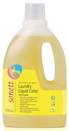 Vedel pesuvahend Sonett Color Mint & Lemon, 1.5 l