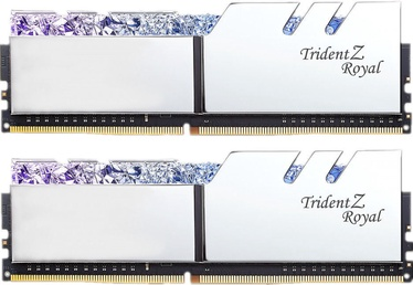 G.SKILL Trident Z Royal Silver 16GB 3200MHz CL14 DDR4 KIT OF 2 Series F4-3200C14D-16GTRS