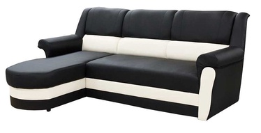 Угловой диван Idzczak Meble Bruno Black/White, левый, 240 x 170 x 97 см
