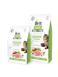 Kuiv kassitoit Brit Care Senior, 7 kg