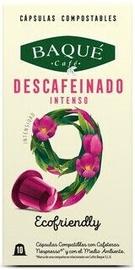 Компостируемые кофейные капсулы Baque Decaffeinated , 10 таблеток