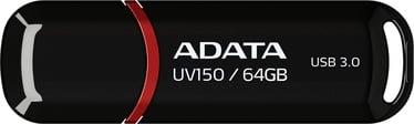 USB mälupulk ADATA UV150 Black, USB 3.0, 64 GB