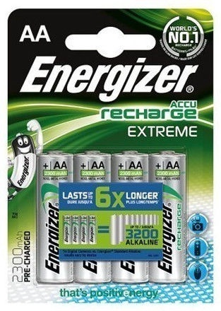Energizer Accu Recharge Extreme 2300mAh Battery AA 4x