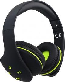 Kõrvaklapid Rebeltec Viral Black/Green, juhtmevabad