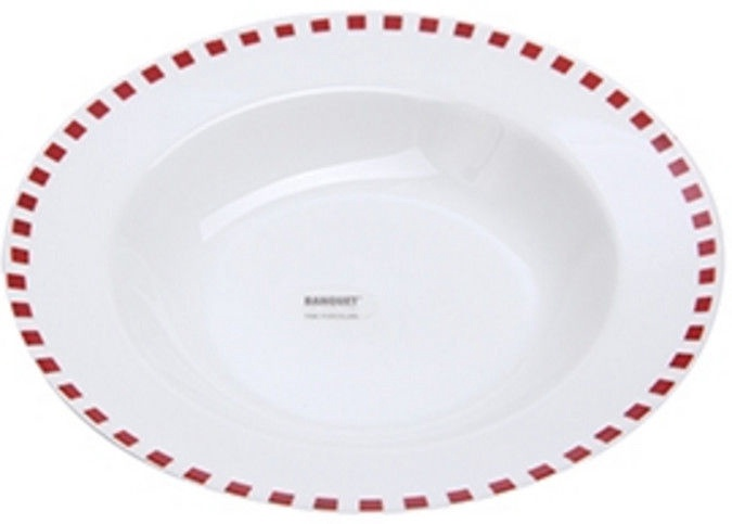 Banquet Cubito Soup Plate 21.6cm Red