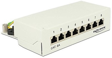 Gelock 8 P Cat.6A Patch Panel Gray