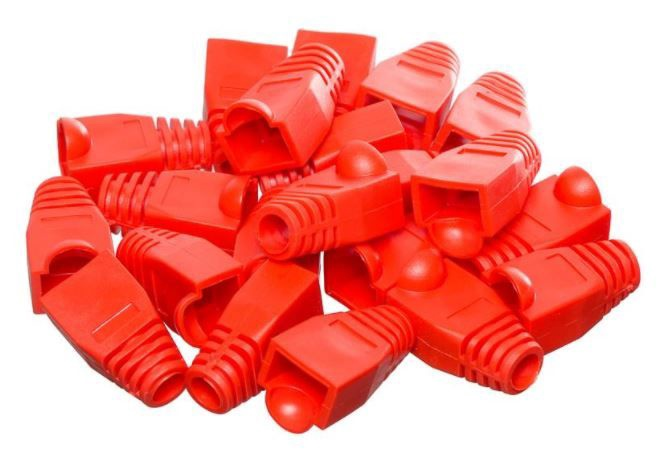 Netrack Boot for RJ45 8P Plug x 100 Red