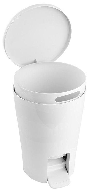 Tatay Bathroom Pedal Bin 5l Diabolo White