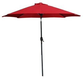 BESK Garden Parasol w/ LED Lights Red