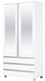 Bodzio Wardrobe with Mirrors AG40 White