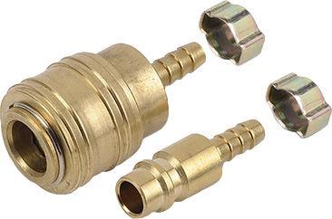 Powerplus POWAIR0265 Quick Connectors +Euro Hose 2pcs