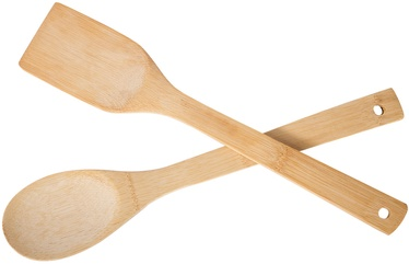 Home4you Bamboo Home Wood Utensils Set Of 2 29705