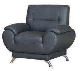 Kanclers Livonia Armchair Eco Leather Dark Gray