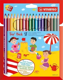 Stabilo Trio Thick Pencils With Sharpener 18pcs