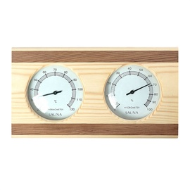 Flammifera AP-040BW Sauna Thermometer with Hygrometer