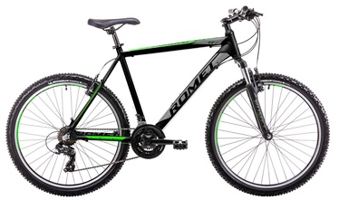 "Romet Rambler R6.1 19"" 26"" Black Green 19"