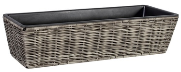 Home4you Wicker Flower Box 60x19x14cm Grey