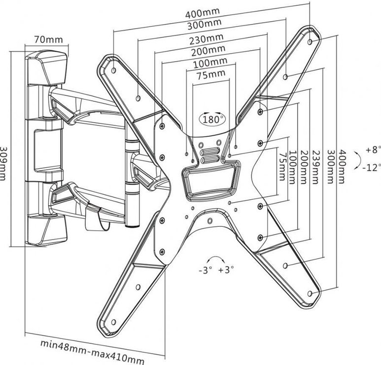 Sbox Wall Mount For Curved Screens 23-55''