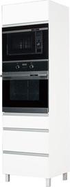 Кухонный шкаф Bodzio Sandi High Rise Oven 60 White, 600x590x2070 мм