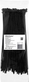 Qoltec Zippers Nylon UV 4.8x250mm 100pcs. Black