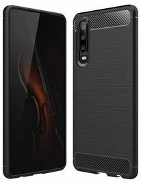 Hurtel Carbon Back Case For Huawei P30 Black