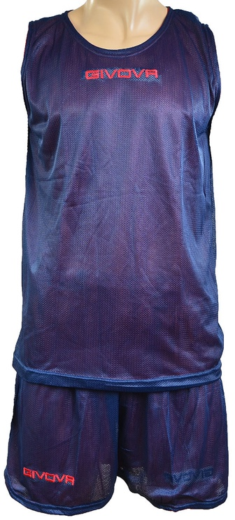 Givova Complete Double Basketball Set Blue Red L